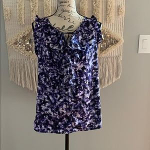 The limited floral tank With ruffles